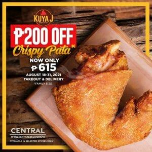 Kuya J Restaurant - Get P200 Off Crispy Pata