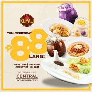 Kuya J Restaurant - Merienda for P88 via Central Delivery