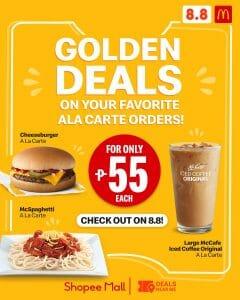 McDonalds - 8.8 Sale: Golden Deals via Lazada and Shopee