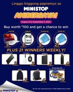 Ministop - Anibersaya Raffle Promo