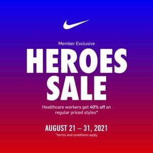 Nike Park - Heroes Sale: Healthcare Workers Get 40% Off