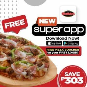 Shakey's - FREE Pizza Voucher via New Super App