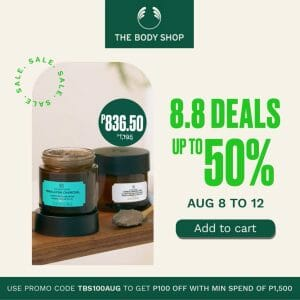 The Body Shop - 8.8 Sale: Get Up to 50% Off