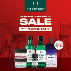 The Body Shop - National Heroes Day Sale: Get Up to 50% Off