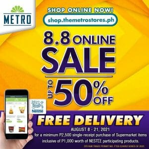 The Metro Stores - 8.8 Sale: Get Up to 50% Off