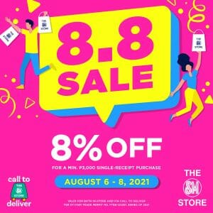 The SM Store - 8.8 Sale: Get 8% Off