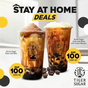 Tiger Sugar - Stay at Home Deals for P100