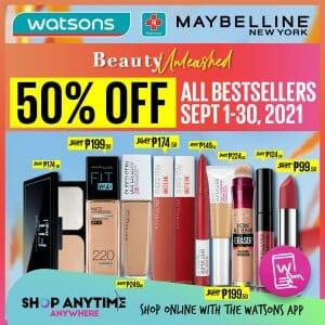 Watsons - Biggest Beauty Sale: Get 50% Off on All Bestsellers