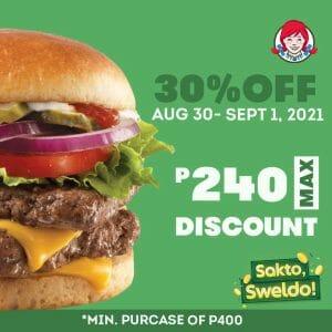 Wendy's - Get 30% Off via GrabFood