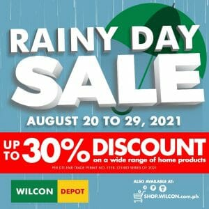 Wilcon Depot - Rainy Day Sale: Get Up to 30% Discount