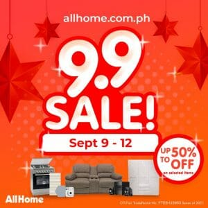 AllHome - 9.9 Sale: Get Up to 50% Off