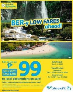 Cebu Pacific - Seat Sale: P99 BER-y Low Fares Promo