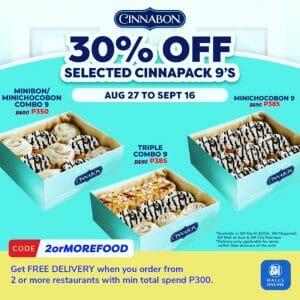 Cinnabon - 30% Off Promo via SM Malls Online