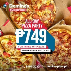 Domino's Pizza - All-Day Pizza Party for P749