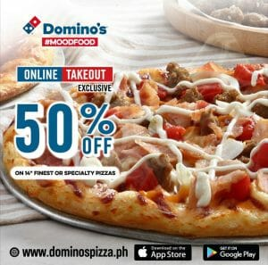 Domino's Pizza - Online Takeout Exclusive: Get 50% Off