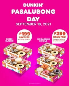 Dunkin - Pasalubong Day Promo: Save As Much As P65