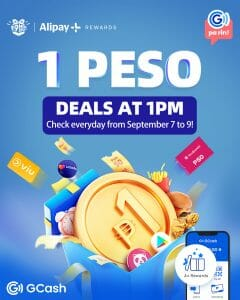GCash - 1 PM 1 Peso Deals