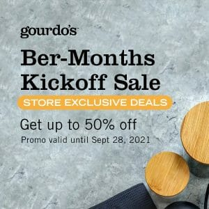 Gourdo's - Ber-Months Kickoff Sale: Get Up to 50% Off