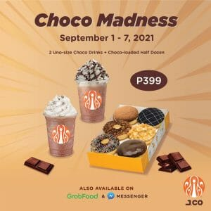 J.CO Donuts and Coffee - Choco Madness: Donut and Drink Bundle for P399