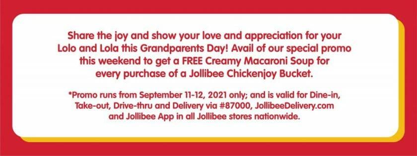 Jollibee Grandparents Day Promo Sep21 1