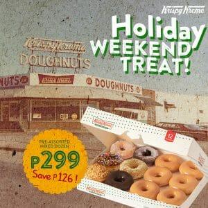 Krispy Kreme - Holiday Weekend Treat for P299 (Save P126)