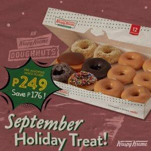 Krispy Kreme - September Holiday Treat for P249 (Save P176)