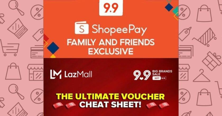 Lazada and Shopee 9.9 Voucher Cheat Sheet