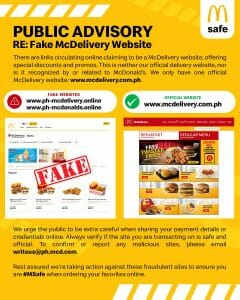 McDonald's Warns Against Fake McDelivery Websites