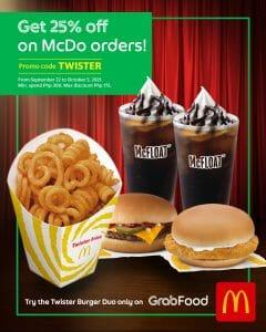 McDonald's - Get 25% Off on Orders via GrabFood