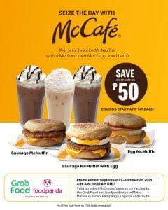 McDonald's - McCafe and McMuffin Promo via GrabFood and Foodpanda