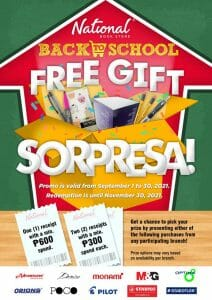 National Book Store Back To School FREE Gift Sorpresa