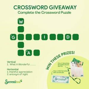 Serenitea Crossword Giveaway