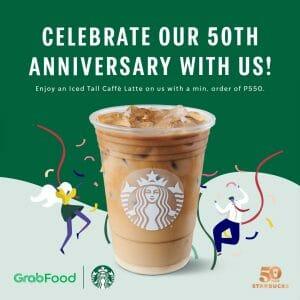 Starbucks - 50th Anniversary Promo via GrabFood