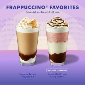 Starbucks - Frappuccino Favorites Starting at P100