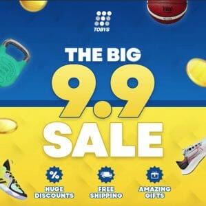 Toby's Sports - The Big 9.9 Sale