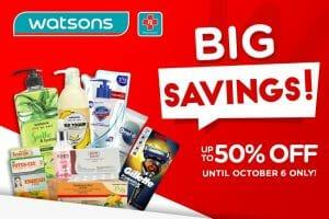 Watsons - Big Savings Promo: Get Up to 50% Off