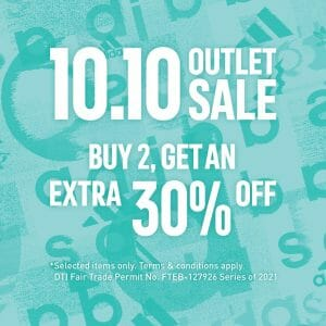 Adidas - 10.10 Outlet Sale: Buy 2 Get an Extra 30% Off