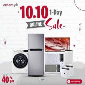Anson's - 10.10 1-Day Online Sale: Get Up to 40% Off
