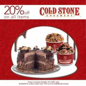 Cold Stone Creamery - Get 20% Off on All Items