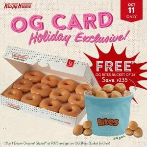 Krispy Kreme - OG Card Holiday Exclusive: Get FREE OG Bites Bucket of 24