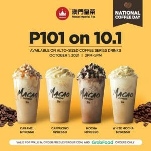 Macao Imperial Tea - National Coffee Day P101 on 10.1 Promo