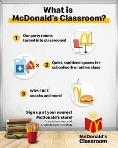 McDonald's Classrooms Launched as Virtual Learning Classrooms for Teachers and Students