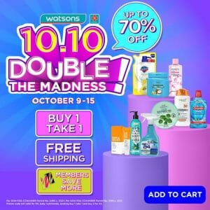Watsons - 10.10 Double The Madness Online Sale