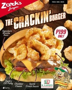 Zark's Burgers - The Crackin' Burger for P199